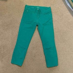 LOFT Green Crop Pants